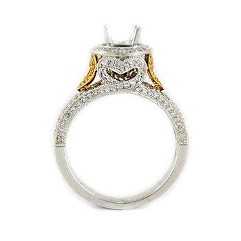 Fancy Yellow Heart Diamond Ring Mounting
