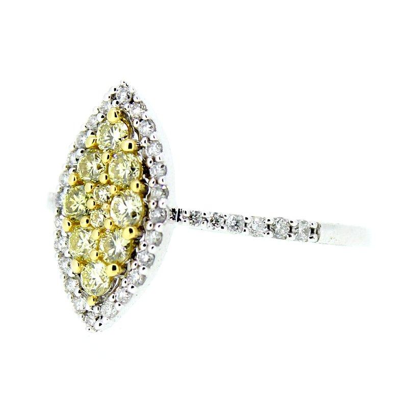 Decor Yellow & White Diamond Ring