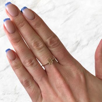 Open Diamond Bar Ring