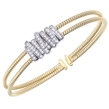 Diamond Wrap Cuff Bracelet