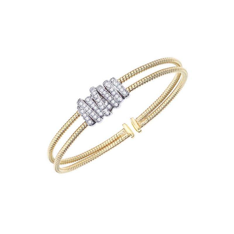 DA Gold Diamond Wrap Cuff Bracelet