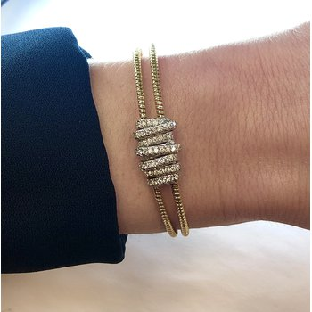 Diamond Wrap Cuff Bracelet