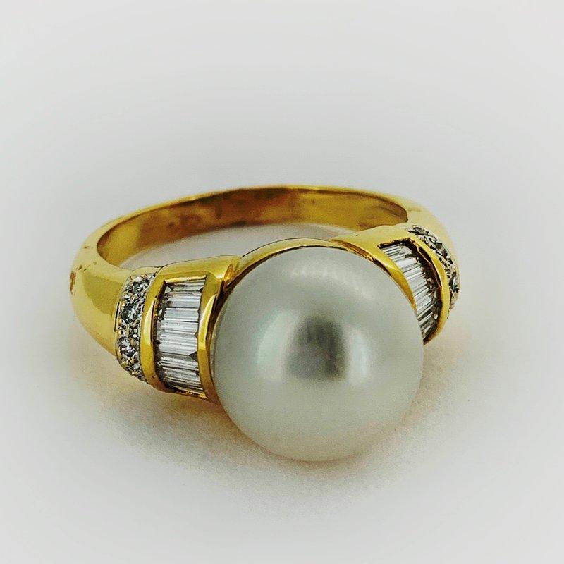 Decor Pearl & Diamond Ring
