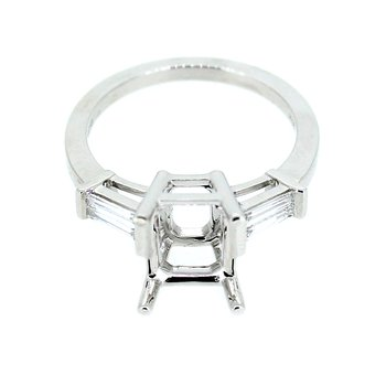 Classic Tapered Baguette Diamond Ring Mounting