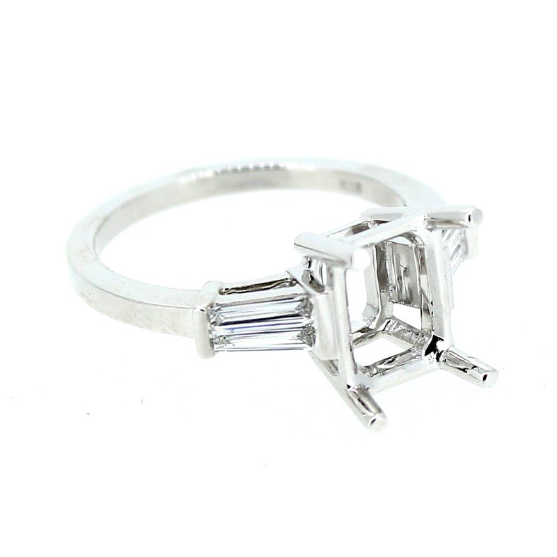 Decor Classic Tapered Baguette Diamond Ring Mounting
