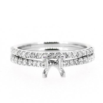Classic Diamond Ring Mounting and Band