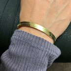 Decor Gold Herringbone Bracelet