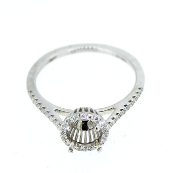 Round Halo Diamond Ring Mounting