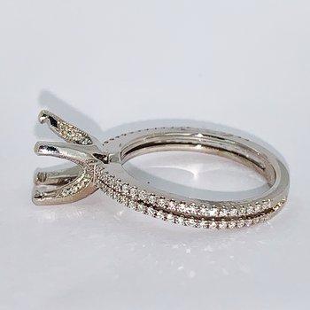 Split Shank Pave Diamond Ring Mounting