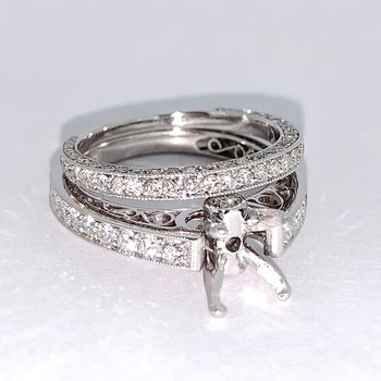 Cathedral Style Diamond Ring Mounting Set