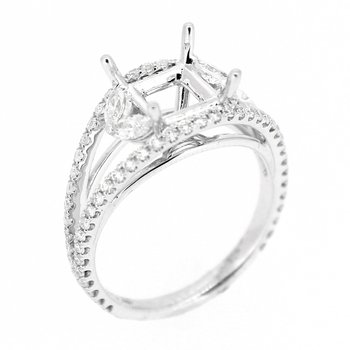Double Row Open Diamond Ring Mounting