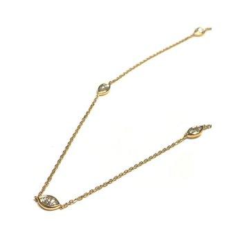 Bezel Set Marquise Diamond Necklace