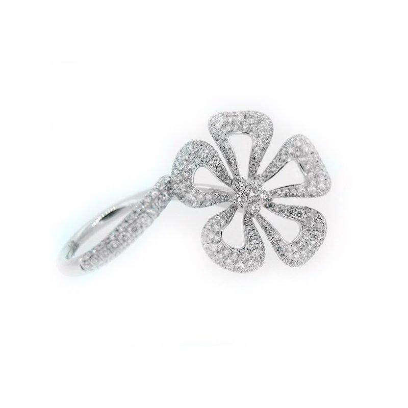 Decor Moving Flower Diamond Ring