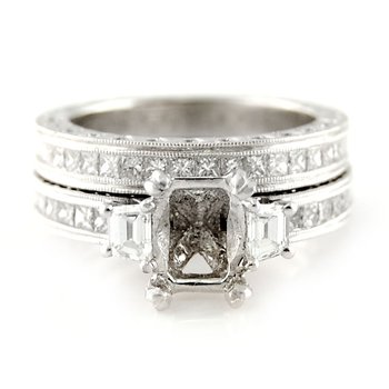 Platinum Diamond Ring Mounting & Band