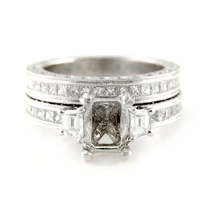 Decor Platinum Diamond Ring Mounting & Band