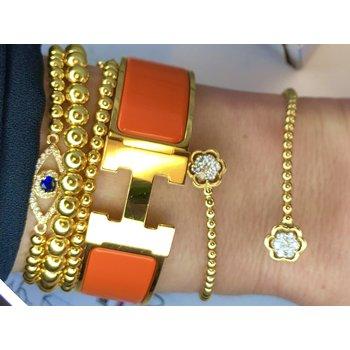 Floral Diamond Cuff Bracelet