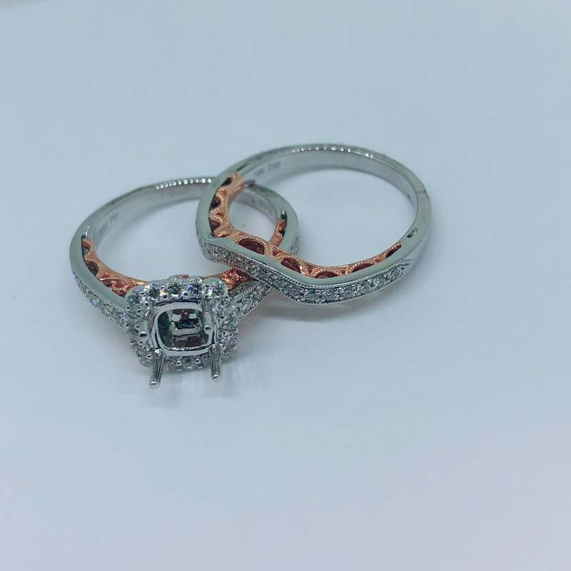 Decor Halo Ring Mounting Set w/Rose Gold Accents