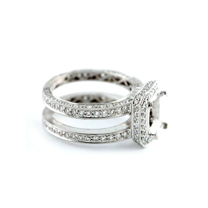 Decor Halo w/Double Band Diamond Engagement Ring Mounting