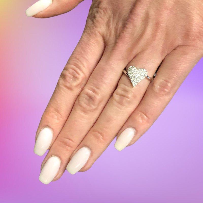 Decor Diamond Pave Heart Ring