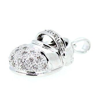 Diamond Baby Shoe Pendant or Charm