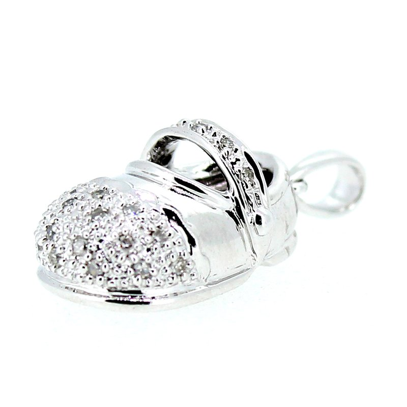 Decor Diamond Baby Shoe Pendant or Charm