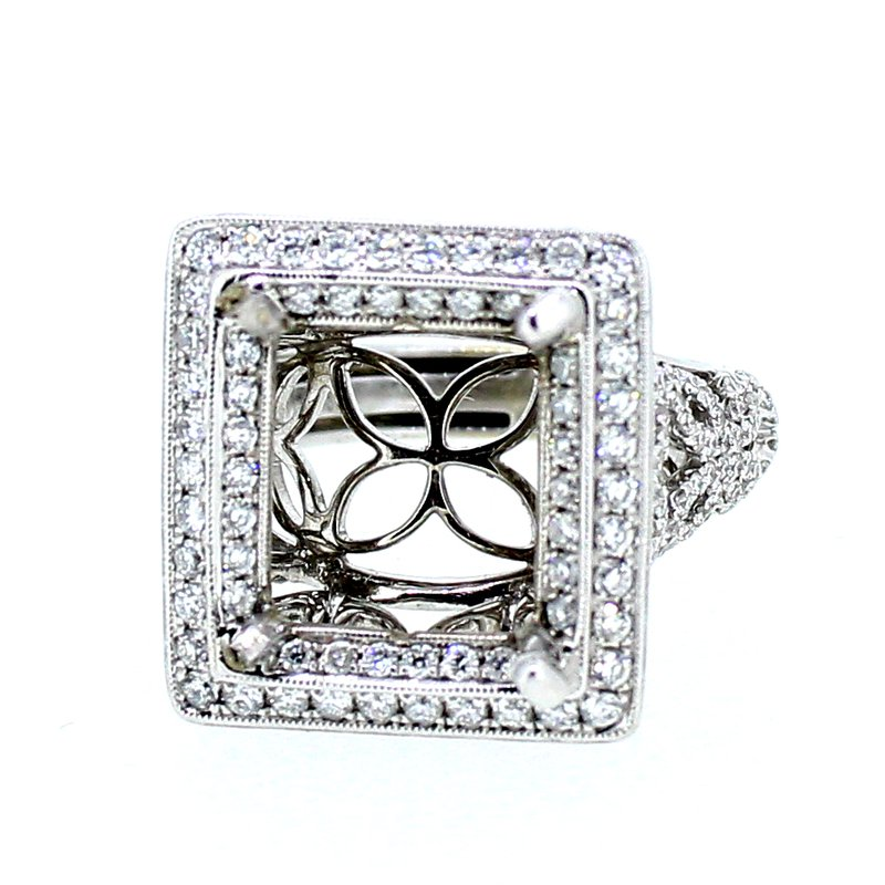 Decor Square Halo Openwork Ring Mounting