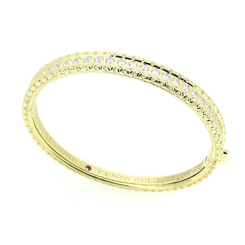 Roberto Coin Cento Collection Diamond Bangle Bracelet