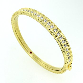 Cento Collection Diamond Bangle Bracelet