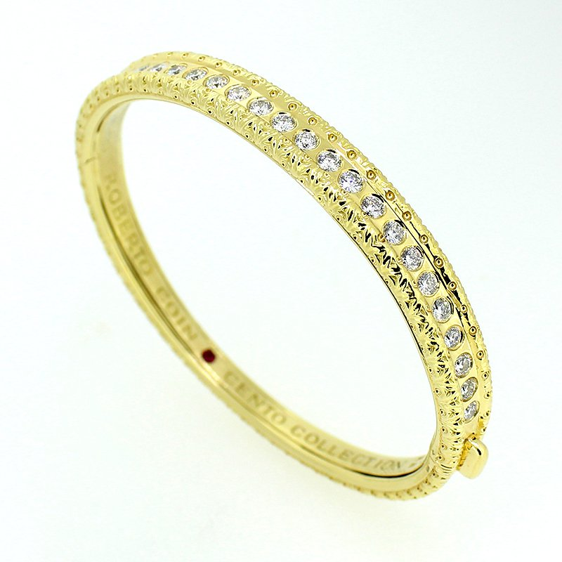Roberto Coin Cento Collection Diamond Bangle Bracelet
