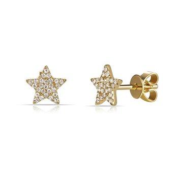 Pave Diamond Star Earrings