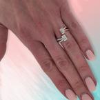 Decor Baguette & Round Diamond Ring
