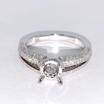 Split Shank Round Diamond Ring Mounting