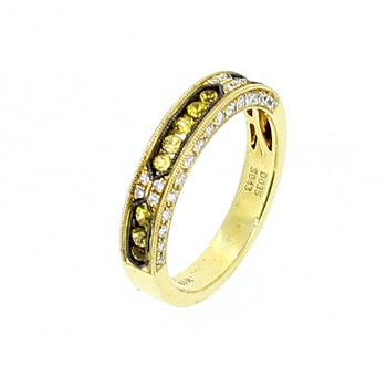 Yellow & White Diamond Band