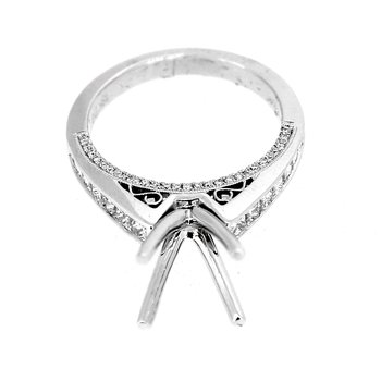 Princess Cut Diamond Ring Mounting