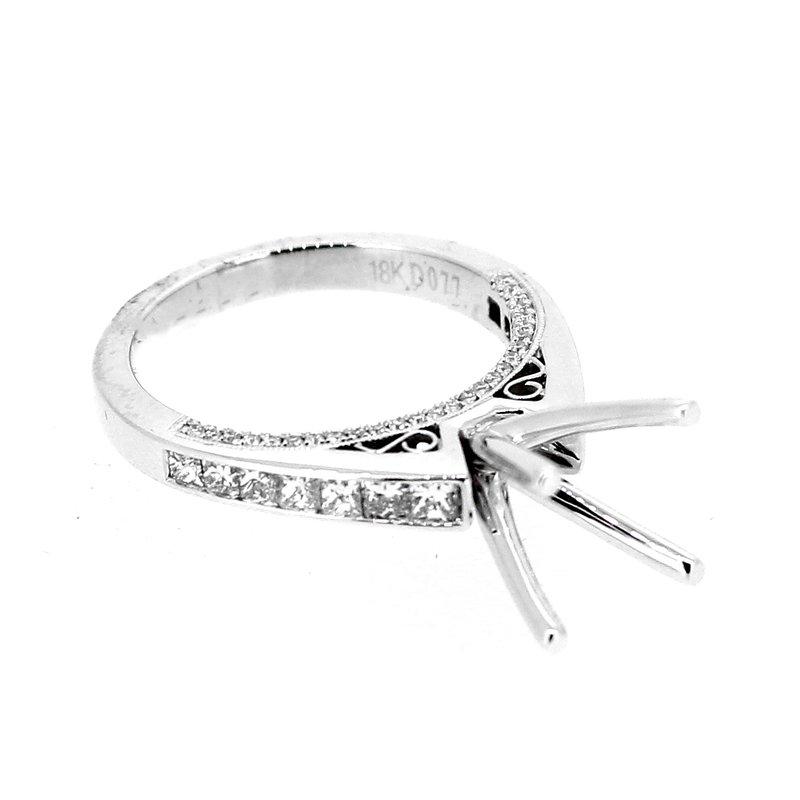 Decor Princess Cut Diamond Ring Mounting