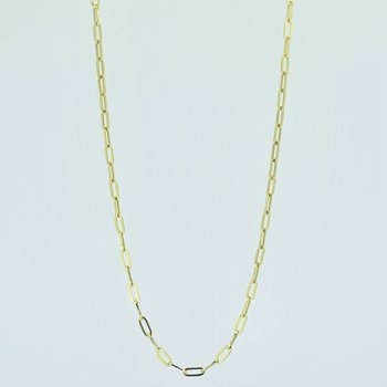 """18"""" Paperclip Gold Chain Necklace"""