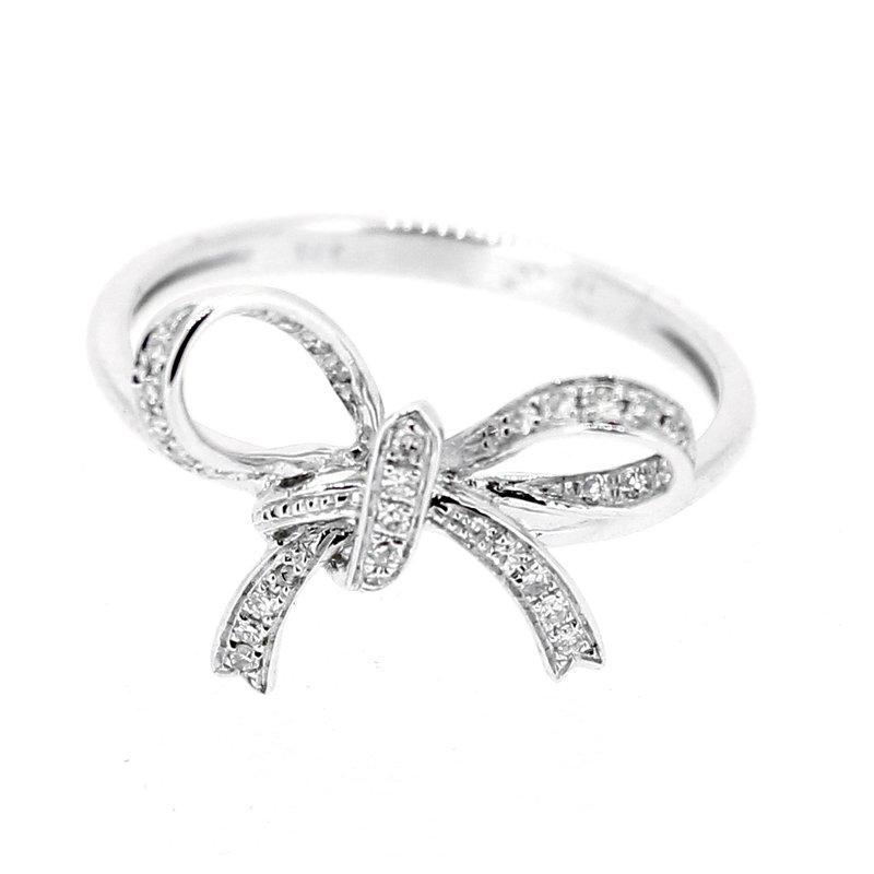 Decor Diamond Bow Ring