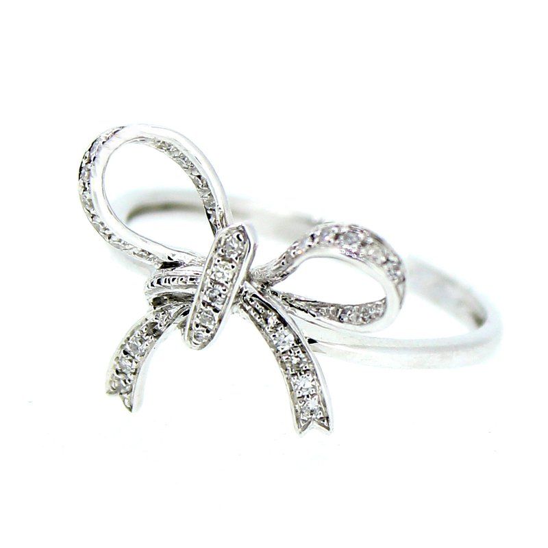 Decor Diamond Bow Ring