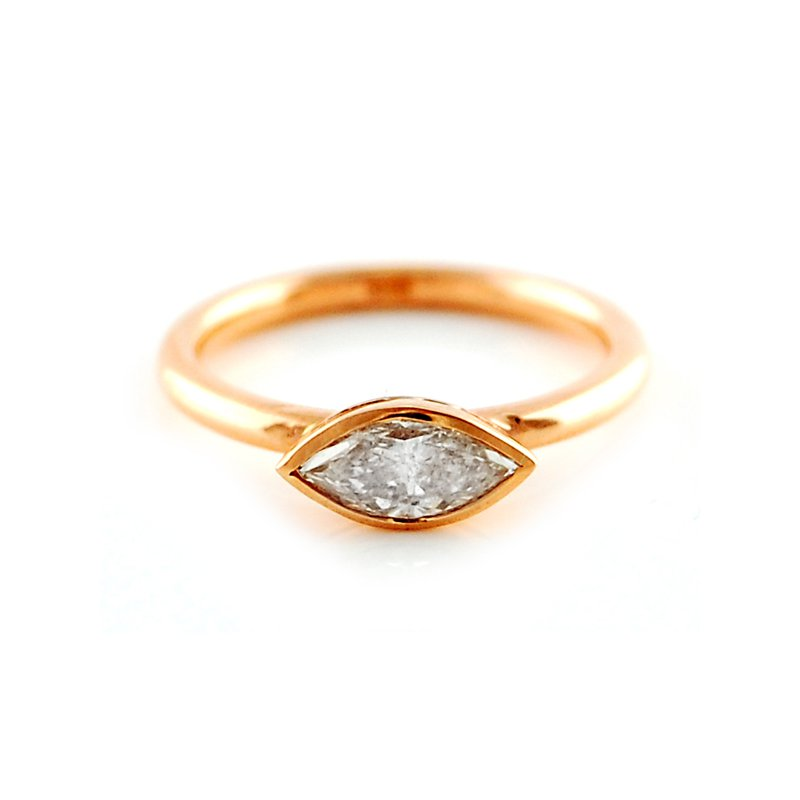 Decor Bezel Set Marquise Diamond Ring