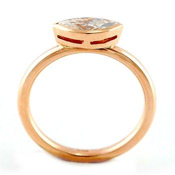 Bezel Set Marquise Diamond Ring