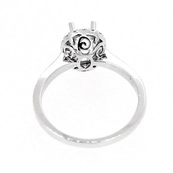 Oval Halo Diamond Ring Mounting