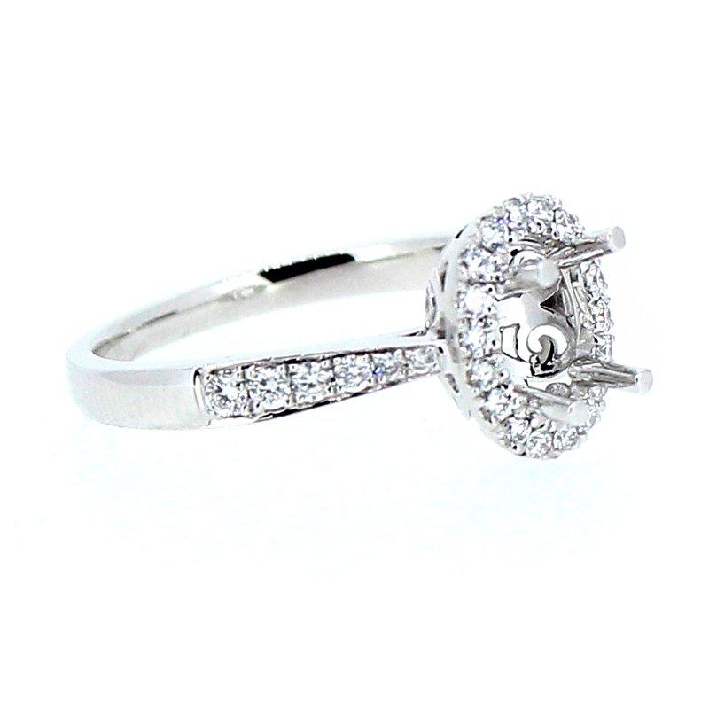 Decor Oval Halo Diamond Ring Mounting