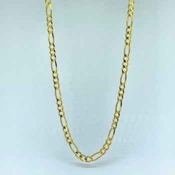 """20"""" Figaro Gold Chain Link Necklace"""