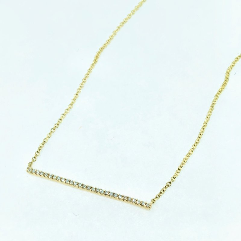 Decor Diamond Bar Necklace