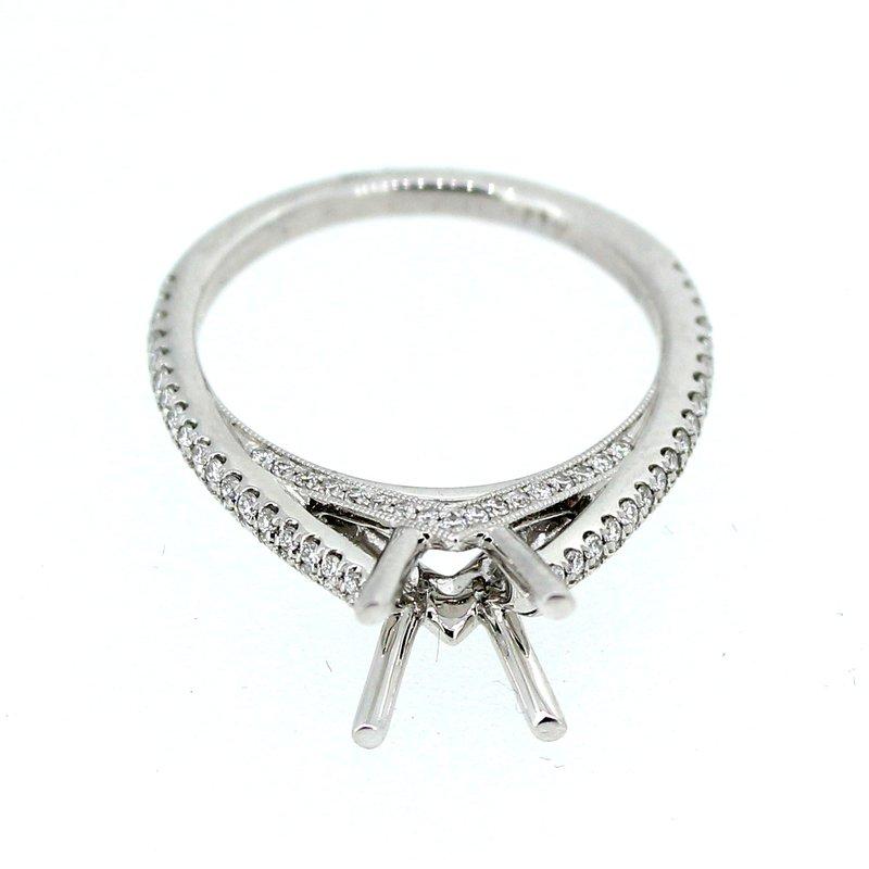 Decor Pave Diamond Ring Mounting