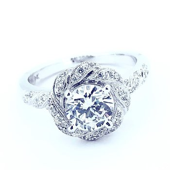 Vintage Inspired Diamond Ring Mounting