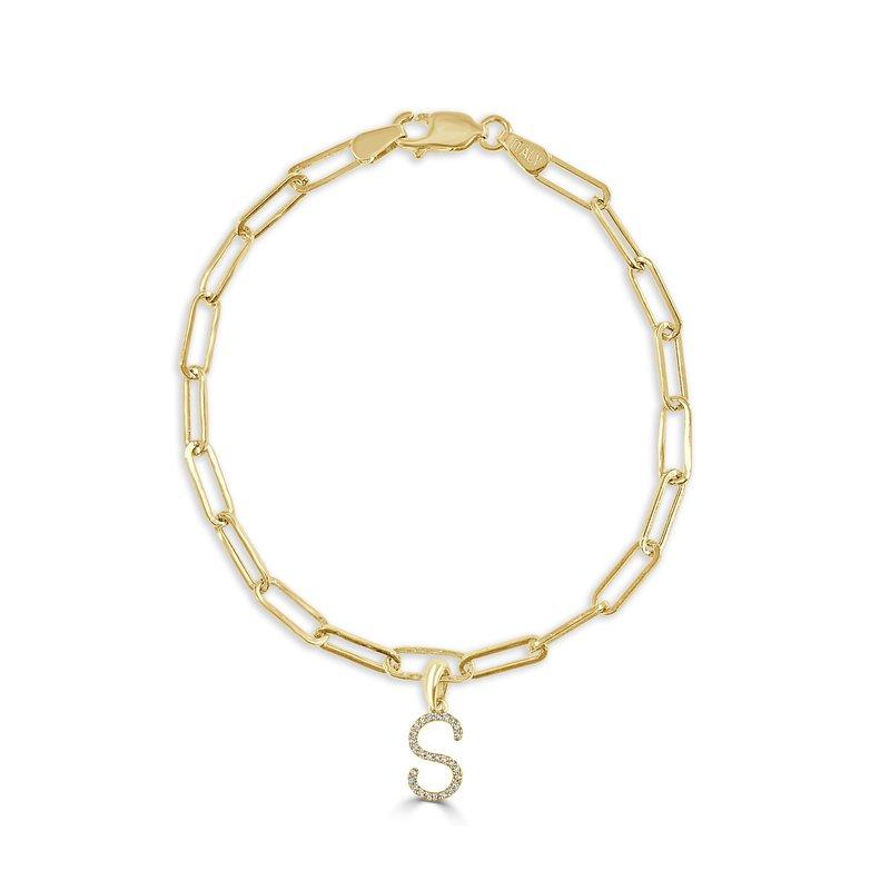 "Sabrina Paperclip Initial ""S"" Bracelet"