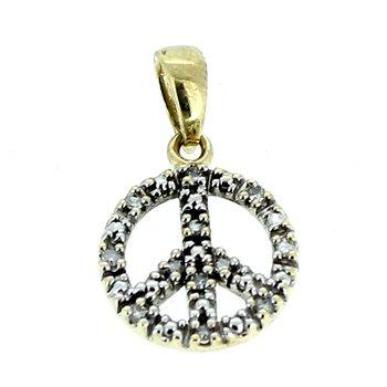Diamond Peace Sign Charm
