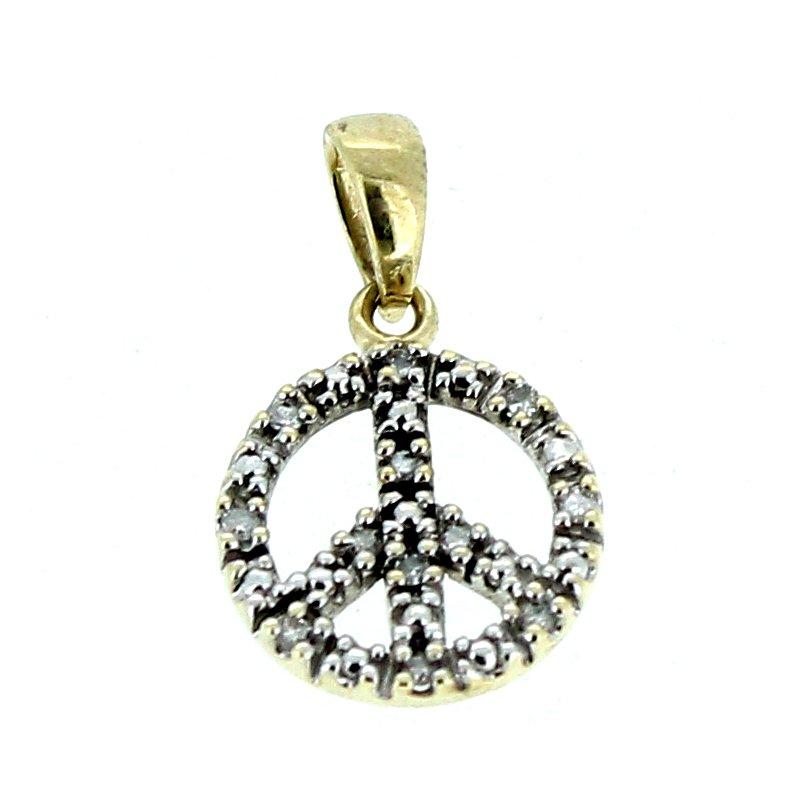 Decor Diamond Peace Sign Charm