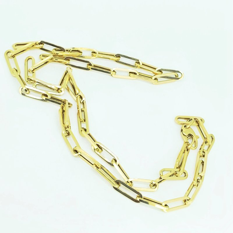 Decor Paperclip Chain Necklace